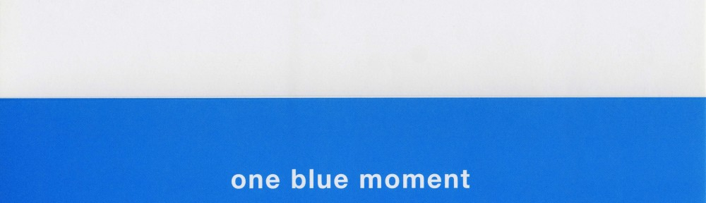 one blue moment