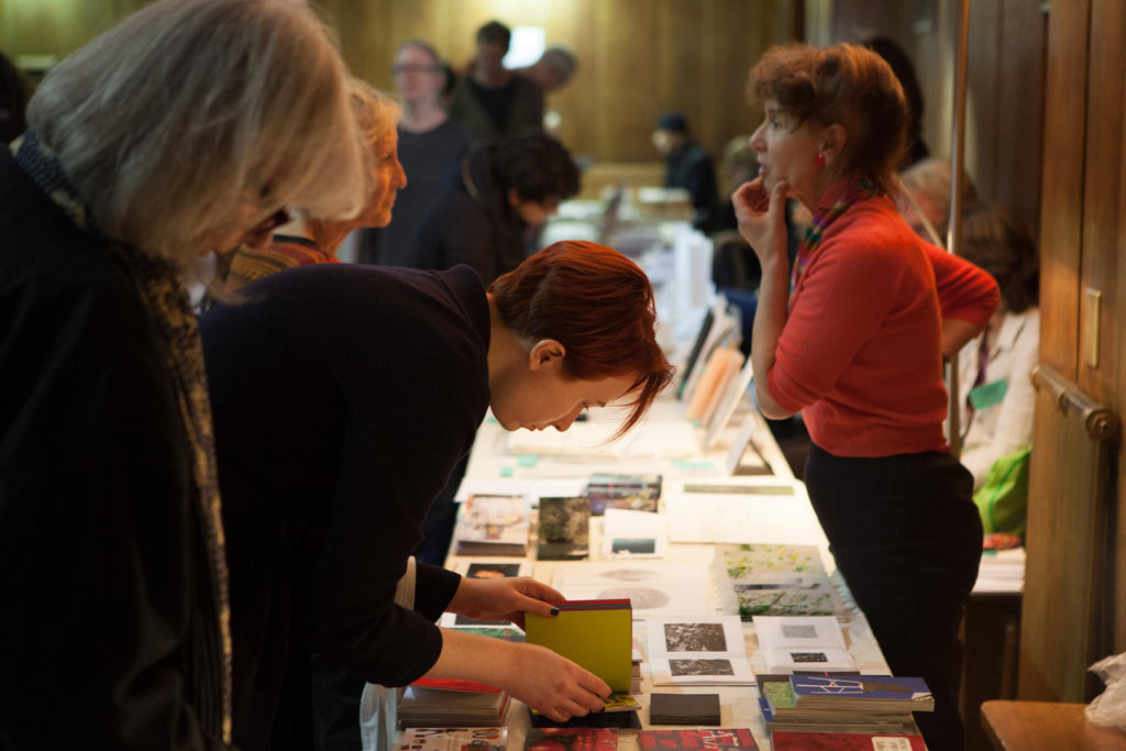 Helen Douglas from Weproductions at Small Publishers Fair 2016. Photo Julie Mitchell