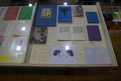 Exhibition case from 'Avant Folk' 2016 exhibition.
