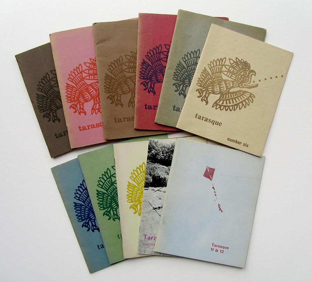 Colourful spread of Tarasque Press magazine.